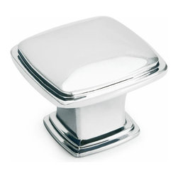 Polished Chrome Square Cabinet Knob - Color/Finish: Polished Chrome