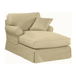 Ballard Designs - Suzanne Kasler Signature 13oz Linen Baldwin Chaise Slipcover - Coordinates with Suzanne's linen panels, tablecloths & pillows. Removes easily for cleaning or a fresh change of seasonal color. Dry clean. Imported. Suzanne's best-selling line of luxurious linens now include slipcovers designed exclusively to fit our ultra-comfy Baldwin Chaise. Hand finished with strong, over-locking seams and custom fitted to prevent shifting and bunching. A Baldwin Slipcover is necessary when ordering any Baldwin frame.Suzanne Kasler Baldwin Chaise Slipcover features: . . . .