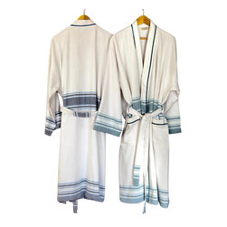 Antiochia - Antiochia Pera Collection Terry Bath Robes, Turquoise - Our new one-side terry bath robes offer the ideal balance of softness and absorbency. Great for year-around use after shower or swim. Features two front pockets and tie belt. Combine them with our Pera Collection bath towels with a beautiful set.