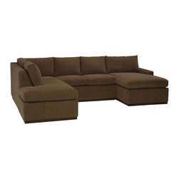 Lazar Industries - Terra U Sectional:  2 Seat Middle in Bentley Bark - Terra Sectional:  Chaise and Adjacent 2-Seater Lazar's most compact model allows for a lot of comfort and style regardless of your space.
