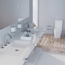 ZEN Gallery Bath Accessories - BE Bath Accessory collection, Towel bar, towel ring, toilet paper holder, wall mount soap dispenser, waste containers, hooks