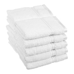 Superior Egyptian Cotton 10pc White Face Towel Set - You can never have enough face towels!  Make sure you pick up a pack when planning to have guests or sending that student away to college. Towel Set includes: Ten Face Towels-13x13 each.