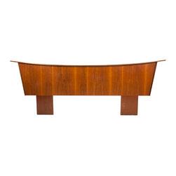 United Furniture Company - Consigned Mid Century Modern United Sculptura California King Headboard - • Mid Century Modern