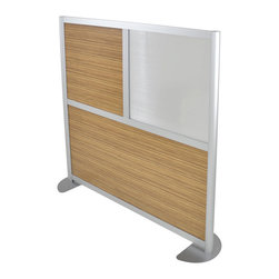 "LOFTwall - LOFTwall Low Height Room Partition LW42LH - The LOFTwall Low Height Room Partition is 53"" tall and two panels wide. Perfect for office privacy, this room divider is available in a variety of mix-and-match panel colors. Made from aluminum, with 12"" feet for stability."