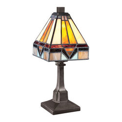Quoizel Lighting - Quoizel TF1021TVB Tiffany 1 Light Table Lamp, Vintage Bronze - This 1 light Table Lamp from the Tiffany collection by Quoizel will enhance your home with a perfect mix of form and function. The features include a Vintage Bronze finish applied by experts. This item qualifies for free shipping!