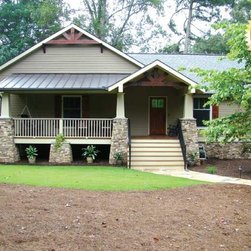 Cobb County Remodel - Remodel project of 1970's contemporary home converted to Craftsman Style using Integrity Windows from Marvin and Thermatru Front Entry Door.