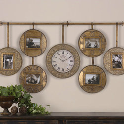 "6699 Velone, Hanging Photo Collage & Cloc by Uttermost - Get 10% discount on your first order. Coupon code: ""houzz"". Order today."