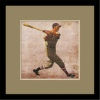 Mantle Art Company - Vintage Baseball custom framed art - Beautiful modern art custom framed by designers to bring out the best in this piece of art. Made in the USA
