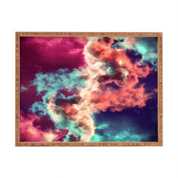 DENY Designs - Caleb Troy Yin Yang Painted Clouds Rectangular Tray - With DENY's multifunctional rectangular tray collection, you can use it for decoration in just about any room of the house or go the traditional route to serve cocktails. Either way, you��_��__ll be the ever so stylish hostess with the mostess!