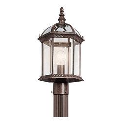 BUILDER - KICHLER 49187TZ New Street Transitional Outdoor Post Lantern - BUILDER 49187TZ New Street Transitional Outdoor Post Lantern