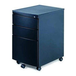 New Spec - Mobile File Cabinetw 3 Drawers In Black - Color/Finish: Black. Material: Metal. Key Lock. . 15.67 in. L x 22.64 in. W x 25.78 in. H (60 lbs)