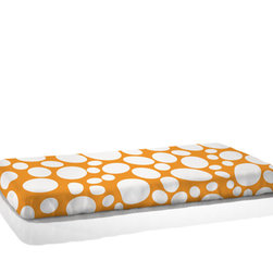Nook Sleep Systems - Fitted CribSheet, Riverbed-Poppy - Nook Crib Sheets offer a natural and breathable alternative to standard infant bedding. We add oxygen to our certified organic cotton, eliminating any dirt and residue that clog natural fiber airways. This process of oxygenation, coupled with low-impact dyes, preserves airflow through the fabric. Mix-and-match the bright patterns of Nook Fitted Crib Sheets for a more breathable, non-toxic and beautiful crib. Machine washable.