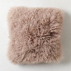 "Anthropologie - Luxe Fur Pillow - Side zipMongolian sheepskin, wool; polyfillSpot cleanSquare: 16"" squareRectangle: 12"" x 16""Imported"