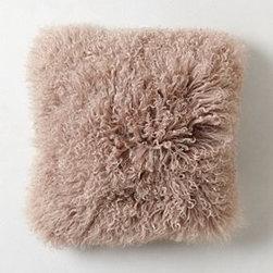 "Anthropologie - Luxe Fur Pillow - Side zipMongolian sheepskin, wool; polyfillSpot cleanSquare: 16"" squareRectangle: 12"" x 16""Imported"