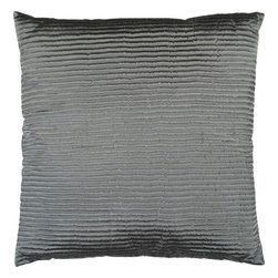"Surya - Surya PC-1007 Shapely Stripe Pillow, 20"" x 20"", Down Feather Filler - Create a look of contemporary charm with this elegant pillow. Featuring a subtly chic design and striking grey coloring, this piece will pair perfectly with a range of styles, securing itself as the crowning jewel of any space. This pillow contains a zipper closure and provides a reliable and affordable solution to updating your home's decor."