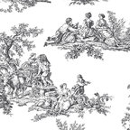 "Patton - Ch22508 Black And White Toile Wallpaper - CH22508 from Grand Chateau by Patton is a 20.5""/52 cm wide wallpaper with a black and white toile pattern in white and black.  The Grand Chateau collection of wallpapers from Norwall are prepasted and solid vinyl."