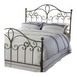 Hillsdale - Hillsdale Meade Metal Headboard in Silver Gold-King - Hillsdale - Headboards - 1520670 - Hillsdale Furniture's traditional Meade Headboard boasts an elegant silhouette sweeping scrollwork and delicate castings. Finished in a dynamic silver and gold this headboard is constructed from a sturdy heavy gauge tubular steel. Some assembly required.