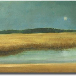 None - Caroline Gold 'Harvest Moon' Canvas Art - Artist: Caroline Gold Title: Harvest Moon Product Type: Canvas Art