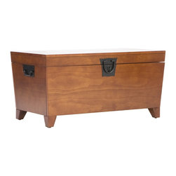 Holly & Martin - Holly & Martin Dorset Trunk Cocktail Table - What a combination of contemporary style and usefulness! These wooden trunks will not only help you organize your living room by giving you extra storage, but also look great. Black metal handles complete this simple design.