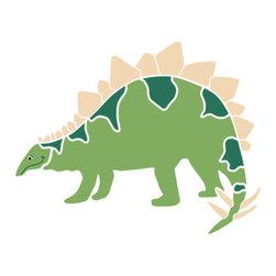 My Wonderful Walls - Stegosaurus Dinosaur Stencil 1 for Painting - - 2-piece stegosaurus wall stencil