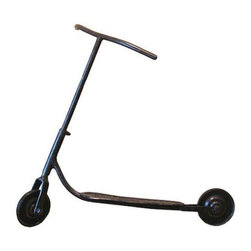 Used 1920's Parisan Childs Scooter - The first razor scooter ever built! We love this handmade child's scooter. This was purchased Years ago from the Paris flea market. It is comprised of steel, metal wheels with traces of rubber tires, and a simple patina.