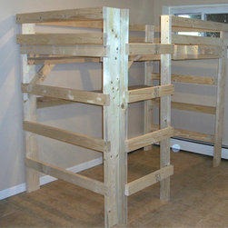 The Manhattan Solid Wood Loft Bed 1000 Lbs Wt. Capacity - Make The Best Use Of Your Limited Space With This Loft-Bed In Unfinished Solid Spruce Pine. The College Loft-Bed Is A Free Standing Loft-Bed That Comes As A Ready To Assemble Kit.