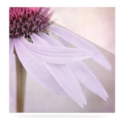 "Kess InHouse - Iris Lehnhardt ""Windswept"" Lavender Floral Metal Luxe Panel (8"" x 8"") - Our luxe KESS InHouse art panels are the perfect addition to your super fab living room, dining room, bedroom or bathroom. Heck, we have customers that have them in their sunrooms. These items are the art equivalent to flat screens. They offer a bright splash of color in a sleek and elegant way. They are available in square and rectangle sizes. Comes with a shadow mount for an even sleeker finish. By infusing the dyes of the artwork directly onto specially coated metal panels, the artwork is extremely durable and will showcase the exceptional detail. Use them together to make large art installations or showcase them individually. Our KESS InHouse Art Panels will jump off your walls. We can't wait to see what our interior design savvy clients will come up with next."