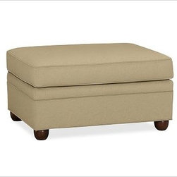 """Chesterfield Upholstered Ottoman, everydaysuede(TM) Oat - Comfort and style define our Chesterfield Collection. Crafted in the America using eco-friendly components, our ottoman works equally well as additional seating or as a footrest companion to the Chesterfield Sofa or Armchair. 38"""" w x 27"""" d x 21"""" h {{link path='pages/popups/PB-FG-Chesterfield-3.html' class='popup' width='720' height='800'}}View the dimension diagram for more information{{/link}}. {{link path='pages/popups/PB-FG-Chesterfield-4.html' class='popup' width='720' height='800'}}The fit & measuring guide should be read prior to placing your order{{/link}}. Ottoman has a polyester wrapped cushion. Proudly made in America, {{link path='/stylehouse/videos/videos/pbq_v36_rel.html?cm_sp=Video_PIP-_-PBQUALITY-_-SUTTER_STREET' class='popup' width='950' height='300'}}view video{{/link}}. For shipping and return information, click on the shipping info tab. When making your selection, see the Special Order fabrics below. {{link path='pages/popups/PB-FG-Chesterfield-5.html' class='popup' width='720' height='800'}} Additional fabrics not shown below can be seen here{{/link}}. Please call 1.888.779.5176 to place your order for these additional fabrics."""