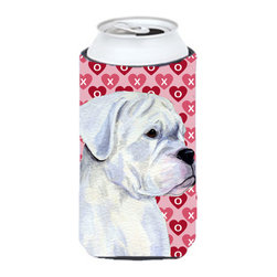Caroline's Treasures - Boxer Hearts Love and Valentine's Day Portrait Tall Boy Koozie Hugger - Boxer Hearts Love and Valentine's Day Portrait Tall Boy Koozie Hugger Fits 22 oz. to 24 oz. cans or pint bottles. Great collapsible koozie for Energy Drinks or large Iced Tea beverages. Great to keep track of your beverage and add a bit of flair to a gathering. Match with one of the insulated coolers or coasters for a nice gift pack. Wash the hugger in your dishwasher or clothes washer. Design will not come off.