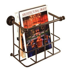 Gatco - Gatco Magazine Rack, Burnished Bronze (1558) - Gatco 1558 Magazine Rack, Burnished Bronze