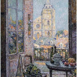 """Henri Le Sidaner Table by the Window - 16"""" x 24"""" Premium Archival Print - 16"""" x 24"""" Henri Le Sidaner Table by the Window premium archival print reproduced to meet museum quality standards. Our museum quality archival prints are produced using high-precision print technology for a more accurate reproduction printed on high quality, heavyweight matte presentation paper with fade-resistant, archival inks. Our progressive business model allows us to offer works of art to you at the best wholesale pricing, significantly less than art gallery prices, affordable to all. This line of artwork is produced with extra white border space (if you choose to have it framed, for your framer to work with to frame properly or utilize a larger mat and/or frame).  We present a comprehensive collection of exceptional art reproductions byHenri Le Sidaner."""