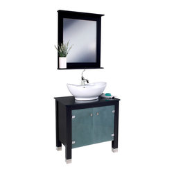 Fresca - Fresca Emotivo Espresso Modern Bathroom Vanity w/ Mirror - This contemporary, Italian designed wooden vanity with a ceramic sink is made to impress.  Beautiful design, excellent craftsmanship and practical functionality make this a perfect addition to any trendy bathroom.  Many faucet styles to choose from.  Optional side cabinets are available.