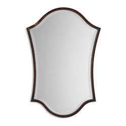 Uttermost - Abra Bronze Vanity Mirror - You'll be the fairest of all just looking at this unique, beveled mirror. Placed above an entryway table, it lends an elegant note to your decor.