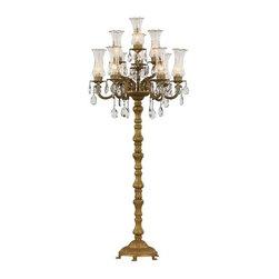 transglobe lighting - Trans Globe Ja-10Fl Bgo 10 Light Floor Lamp - Bulbs are included.