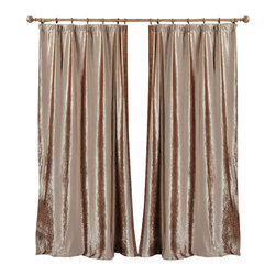 "Ulinkly.com - Golden Velvet King (1 Panel Drapery with Lining, each panel 54""W 96""L) - Ulinkly is for affordable custom-made luxurious window curtains. We partner exclusively with top premium factories(top 1-2 sellers in international market) selling high-end custom-made curtains with top quality and hundreds high-end styles (Drapery, Voile and Valance) selection in North America."