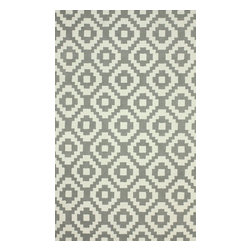 nuLOOM - Contemporary 5' x 8' Grey Hand Hooked Area Rug Trellis HK85 - Made from the finest materials in the world and with the uttermost care, our rugs are a great addition to your home.