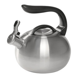 Chantal - Chantal Steel Bubble Kettle, Brushed Stainless Steel - 2 qt. stainless steel teakettle
