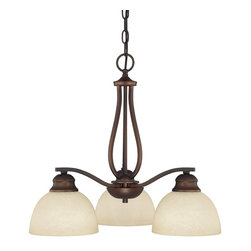 Capital Lighting - Capital Lighting Stanton Transitional Chandelier X-702-BB4304 - Elegantly illuminating small or intimate areas, this charming chandelier provides a vintage vibe to the area. The Capital Lighting Stanton Transitional chandelier features a traditional looking frame which comes in a burnished bronze finish. The mist scavo glass elegantly offsets the dark bronze finish.