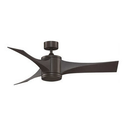 Fanimation - Fanimation Jennix Contemporary DC Motor Ceiling Fan X-BO3497DPF - The DC motor with The Jennix, by Fanimation, allows this fan to consume up to 70% less energy. The sleek lines of the blades available in oil-rubbed bronze make this three-bladed fan an exceptional piece to add to your contemporary decor. All Fanimation motors are protected by a limited lifetime warranty.