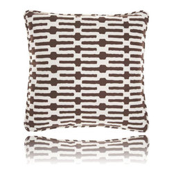 Pine Cone Hill - links tobacco pillow (18x18) - Exciting horizontal stripes make this pillow a fun and modern accent. Includes zipper cosure and feather insert.��This item comes in��tobacco.��This item size is��18w 18h.