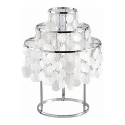 Verner Panton Style Shell Table Lamp - In Style Modern