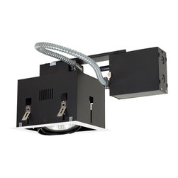 Jesco Lighting - Jesco MGRP30-1WB 1-Light Double Gimbal Recessed Fixture Line Voltage - Jesco MGRP30-1WB 1-Light Double Gimbal Recessed Fixture Line Voltage