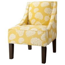 Hudson Upholstered Accent Chair - Botanical Yellow : Target