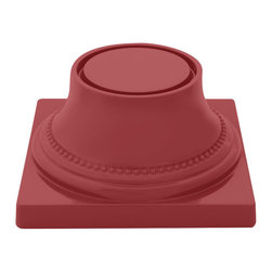 EGS - Cranberry On a Pedestal 7 Sq x 3 3/4 H Pedestal/Case of 4 - Descriptions: Mmm...The tastiest of treats tickle the taste buds with their ooey gooey goodness. Elevate your to die for desserts to a higher level with the Ona Pedestal collection