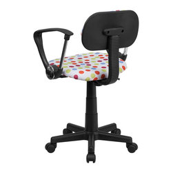 Flash Furniture - Flash Furniture Accent Chair X-GG-A-LUM-D-TB - This attractive design printed office chair will liven up your classroom, dorm room, home office or child's bedroom. If you're ready to step out of the ordinary then this computer chair is for you! [BT-D-MUL-A-GG]