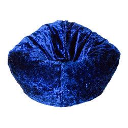Ace Bayou - 96452 Ace Bayou Royal Blue Chenille Bean Bag - Royal Blue Chenille Beanbag by Ace Bayou.
