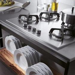 Kitchen Accessories / Organization - Scavolini drawer insert for plate storage.