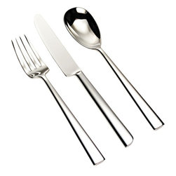 Alessi - Alessi Asta 36-pc. Cutlery Set - Whether you're hosting the Sunday game or a fashionable Oscar party, you'll feel relieved knowing you have enough flatware to go around. This versatile 36-piece cutlery set includes a fork, knife and spoon for each fan.