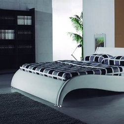 Defy Supply - The Wave Bed Frame - $975.99 - This Wave Contemporary Bed Frame is showcased by its innovative and eye-catching styling.