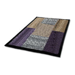 """Blancho Bedding - Onitiva - Nature And Sexy Patchwork Throw Blanket  61""""-86.6"""" - This animal skin patchwork throw blanket measures 61 by 86.6 inches. Comfort, warmth and stylish designs."""